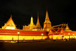 royal temple, grand temple on nighttime in Bangkok, Thailand.