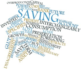 Word cloud for Saving