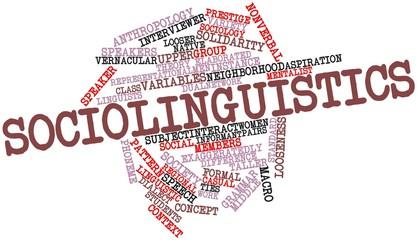 Word cloud for Sociolinguistics