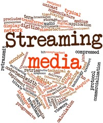 Word cloud for Streaming media