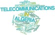 Word cloud for Telecommunications in Algeria