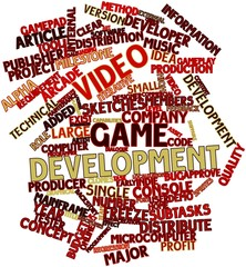 Word cloud for Video game development