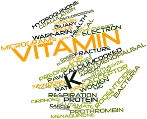 Word cloud for Vitamin K