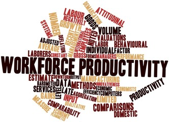 Word cloud for Workforce productivity