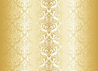 Bright gold luxury vintage wallpaper