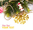 New year background with beautiful color decorations