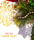 New year card with beautiful star