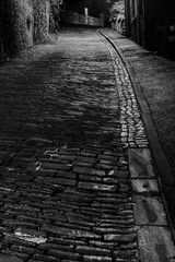 cobbled hill