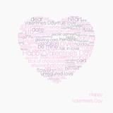 Typographic valentines heart poster