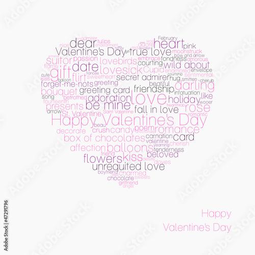 Typographic valentines heart