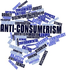 Word cloud for Anti-consumerism