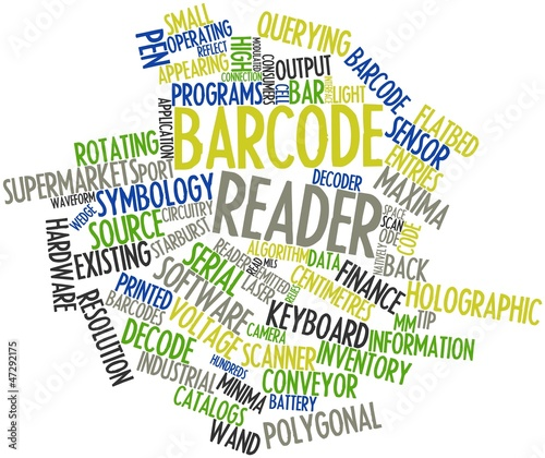 Word cloud for Barcode reader
