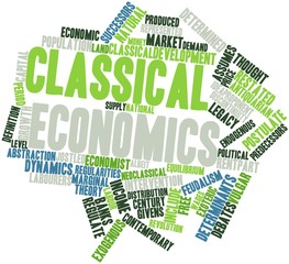Word cloud for Classical economics