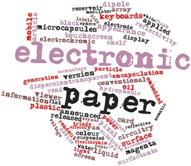Word cloud for Electronic paper