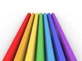 colour pencils poster