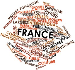 Word cloud for France