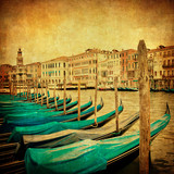 Vintage image of Grand Canal, Venice - 47294396