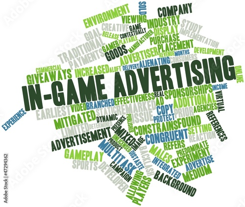 Word cloud for In-game advertising