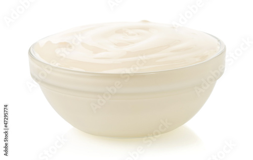 mayonnaise sauce  isolated on white
