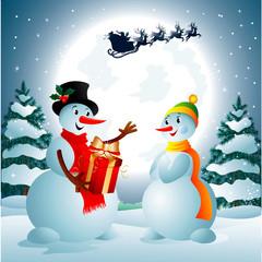 Snowmen & Gift