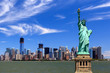 canvas print picture - New York City - Manhattan - Statue of Liberty