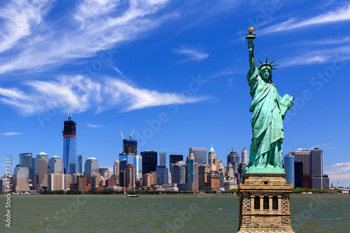 Poster Poort New York City - Manhattan - Statue of Liberty
