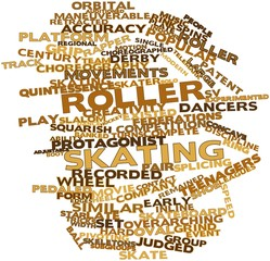 Word cloud for Roller skating