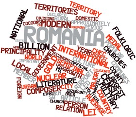 Word cloud for Romania