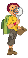 Male Explorer, illustration
