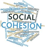 Word cloud for Social cohesion