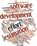Word cloud for Software development effort estimation poster