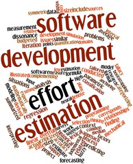 Word cloud for Software development effort estimation