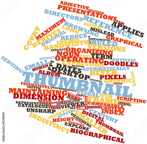Word cloud for Thumbnail