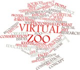 Word cloud for Virtual zoo