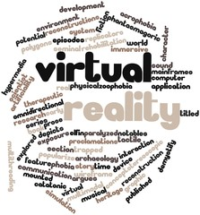 Word cloud for Virtual reality