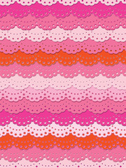 Cute pink ruffle seamless background