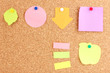 Colorful sticky notes on board