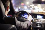 Fototapety man driving car