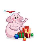 Elephant celebrates new year