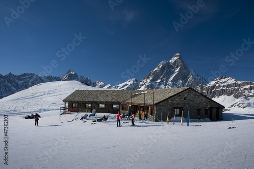 Chalet facing the Matterhorn