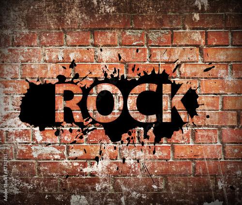 Grunge rock music poster - 47303151