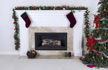 Fireplace warming up holidays