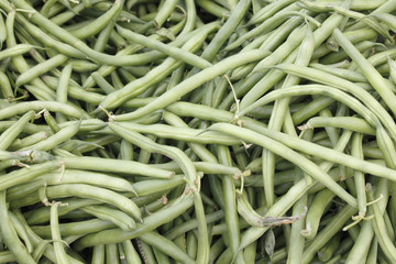 Green String Beans Display