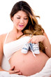 Pregnant woman expeting a boy
