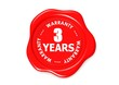 Three YEARS warranty seal