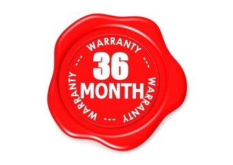 Thirty six month warranty seal