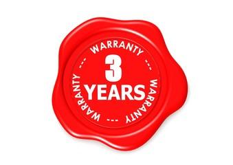 Three YEARS warranty seal