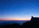 Fototapete Dach - Sterne - Sonnenauf- / untergang