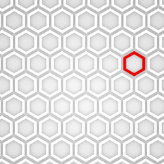3d Render of an Abstract Hexagonal Background