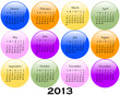 2013 Calendar on Glossy Buttons